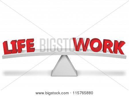 Work-life Balance. Vector Illustration