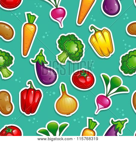 vegetable seamless pattern 10eps vector