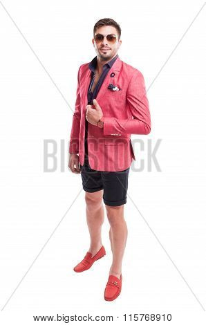 Fancy And Funky Male Model Wearing Fashion Concept.
