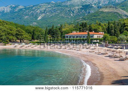 Empty Adriatic sea beach