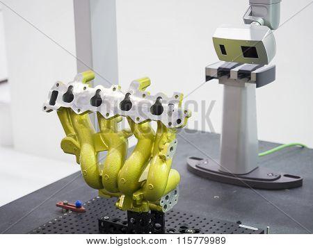 inspection automotive part dimension by 3D scan measuring machine poster