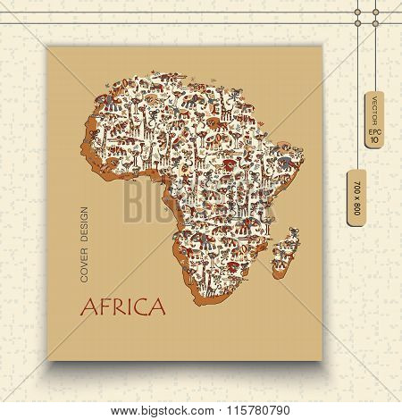 Map of Africa with fun wildlife