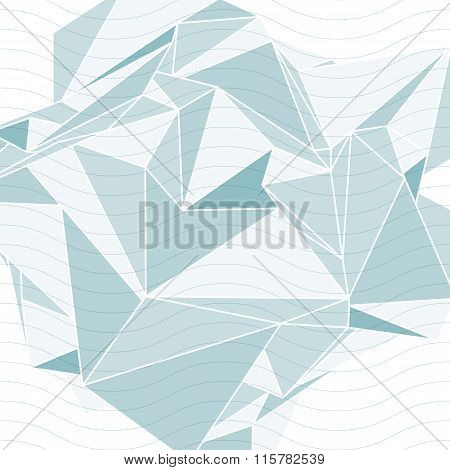 3d spatial tech covering with wavy lines complicated op art background with smudge dots