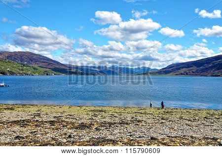 Shorefront at Ullapool in the highlands of Scotland