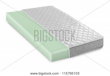 Memory Foam - Latex Mattress Cross Section  Photo Illustration - Hi Quality Modern illustration with