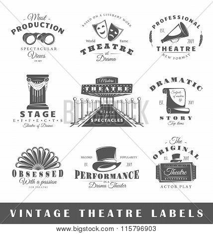Set Of Vintage Theater Labels