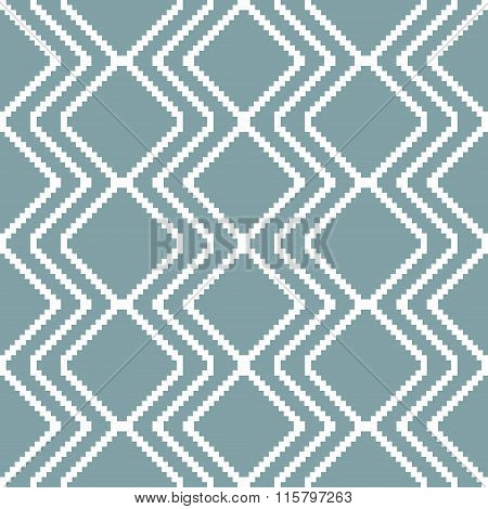 Seamless Knitted Pattern In White And Muted Blue Colors