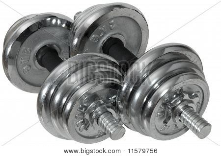 Dumbbells (barbells) On Isolated Background.