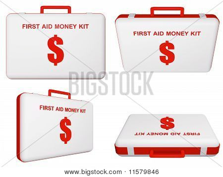 Set Of First Aid Money (dollar) Kit.