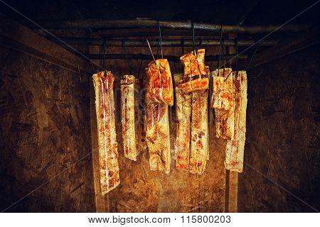 Traditional romanian ham