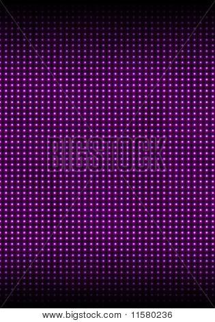 The Wall Illuminated With Magenta Bulbs