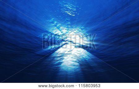 Light Underwater At A Depth