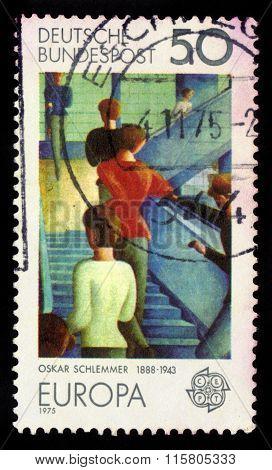 Bauhaus Staircase By Oskar Schlemmer