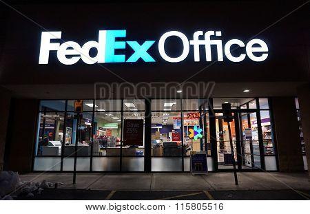 FedEx Office at Night