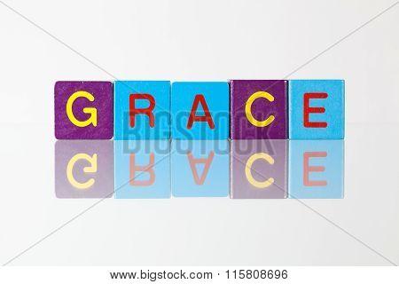 Grace - An Inscription From Children's  Blocks