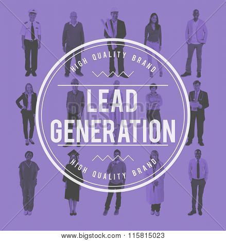 Lead Generation Team Leads Group Concept