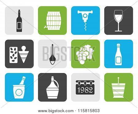 Flat Wine Icons