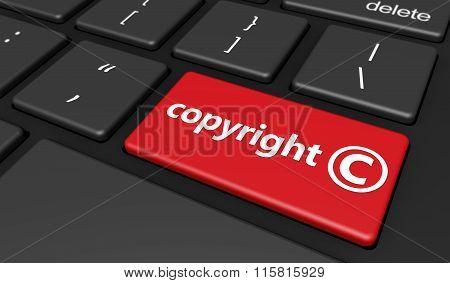 Copyright Symbol Computer Button