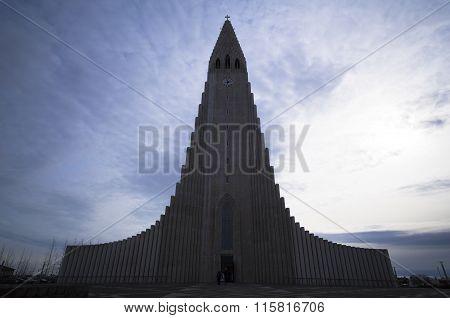 Church Hallgrimskirkja In Reykjavik, Iceland