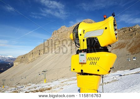 The Snow Cannon In Ski Resort, Madonna Di Campiglio, Italy