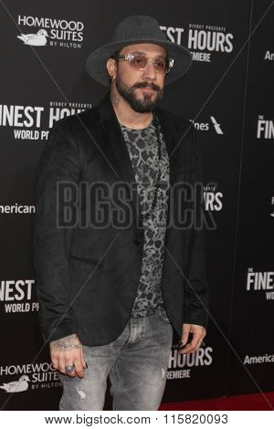 LOS ANGELES - JAN 25:  AJ McLean at the The Finest Hours World Premiere at the TCL Chinese Theater IMAX on January 25, 2016 in Los Angeles, CA
