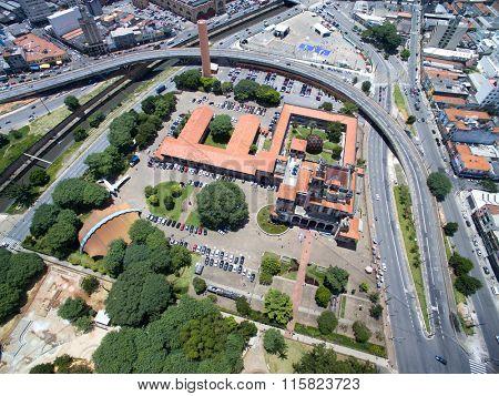 Aerial View of Dom Pedro II Park, Sao Paulo, Brazil
