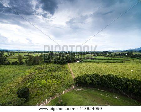 Aerial View of a Farm in Goias, Brazil