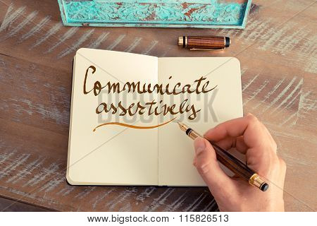 Handwritten Text Communicate Assertively