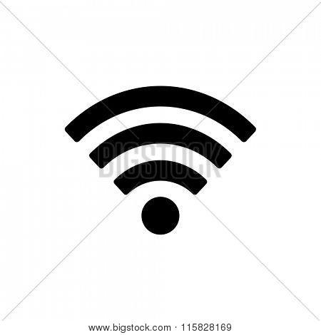 Wifi icon isolated on white