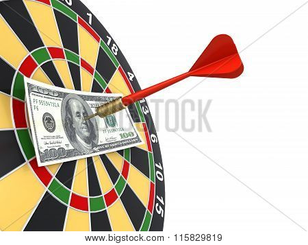 dollar on bullseye