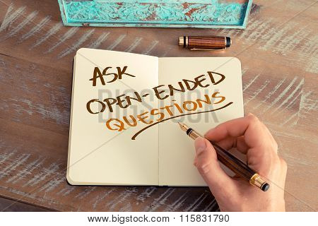 Handwritten Text Ask Open-ended Questions