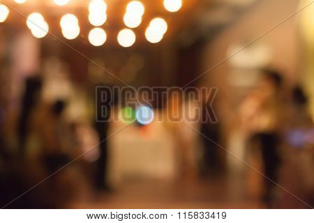 Bokeh of People at Party - concept background