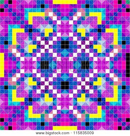 Pixels Beautiful Psychedelic Pattern Vector Illustration