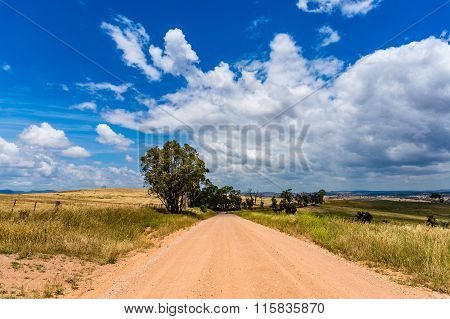 Unsealed rural dirt road