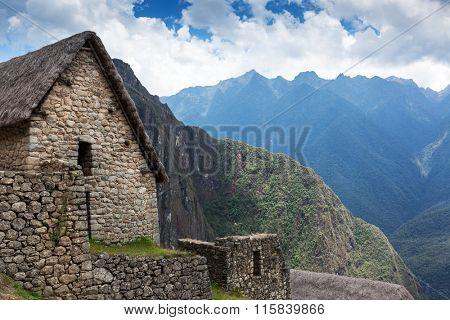 old stone house in Machu Picchu