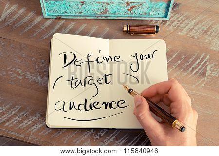 Handwritten Text Define Your Target Audience