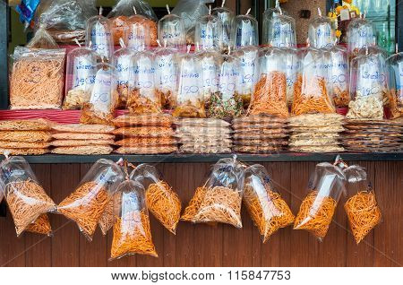 Dried Vegetables At A Bangkok Food Market, Thailand