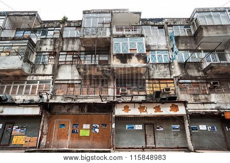 Abandoned Housing In The Kwun Tong District Of Hong Kong