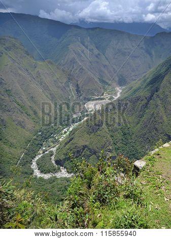 Rio Urubamba Valley At Machu Picchu