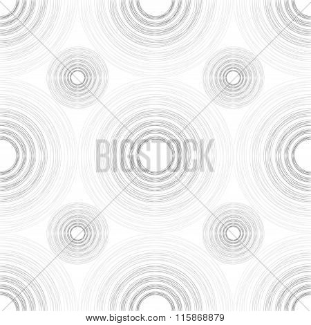 Large And Small Light And Dark Grey Gradient Circles Of Multiple Lines On White Background
