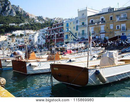 Capri island in Italy.