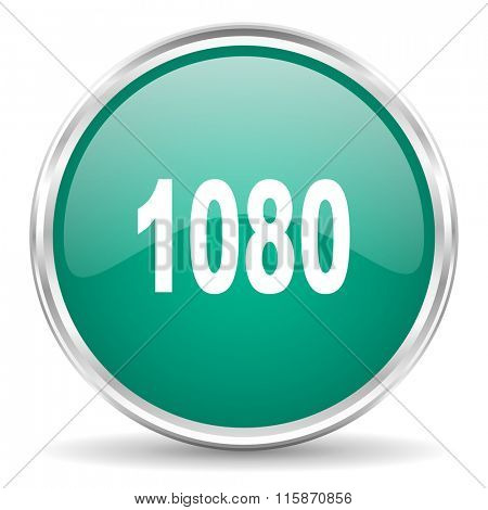 1080 blue glossy circle web icon