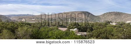 180 degree panorama of Dire Dawa, largest city in Eastern Ethiopia