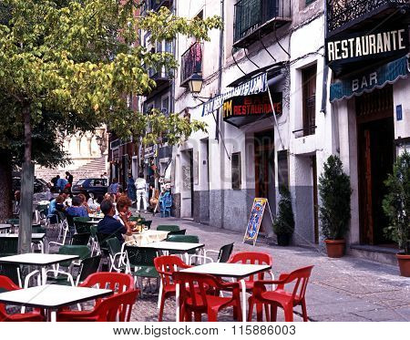 Plaza Mayor bars, Cuenca.