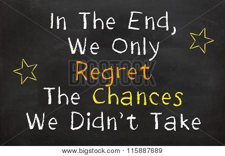 In the End, We Only Regret...