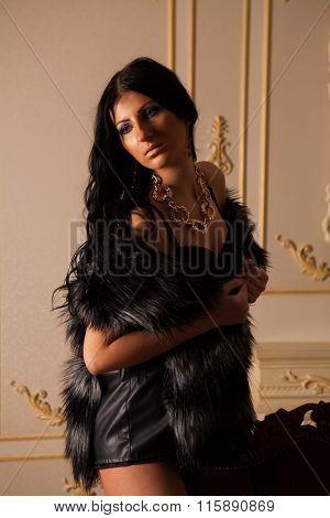 Girl In Fur Jacket