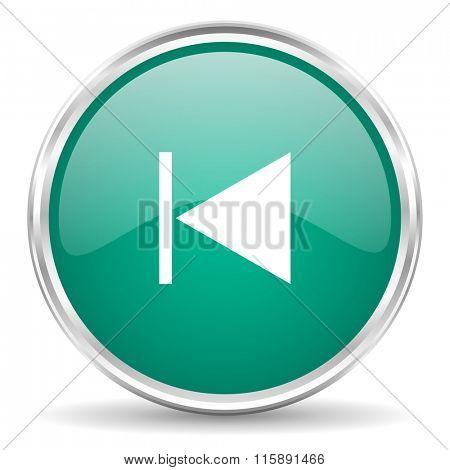 prev blue glossy circle web icon