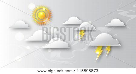 Day with sun and clouds