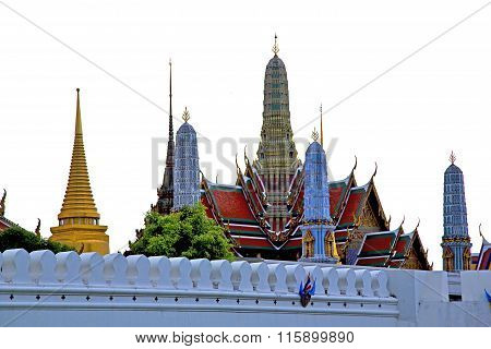Pavement Gold       In   Bangkok  Thailand Incision  The Temple