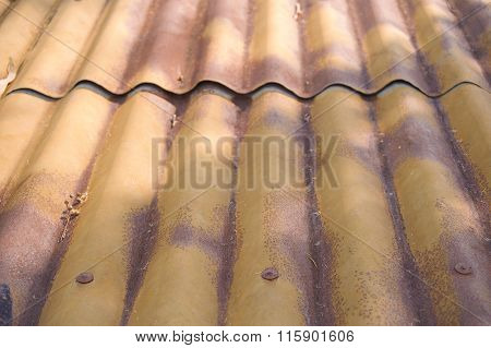 Rusty Oxidizing Corrugated Metal Patterns And Textures.